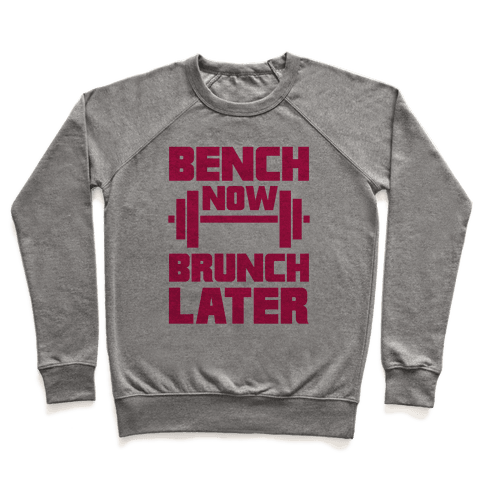 Bench Now, Brunch Later Pullover