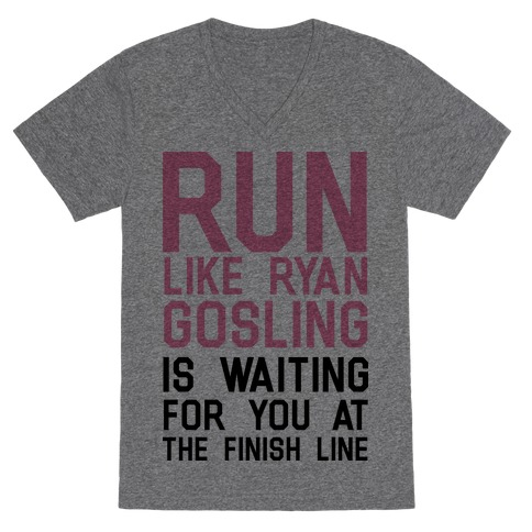 Run For Gosling V-Neck Tee Shirt