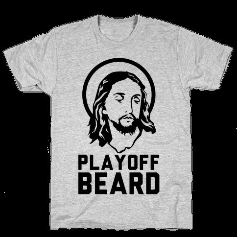 Jesus Playoff Beard Mens T-Shirt