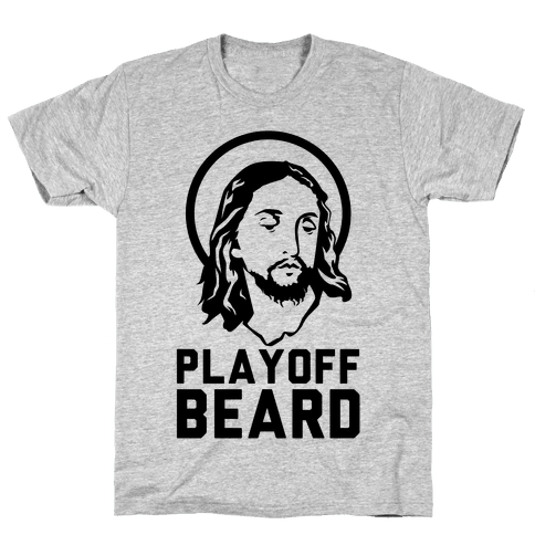 Jesus Playoff Beard Mens T-Shirt