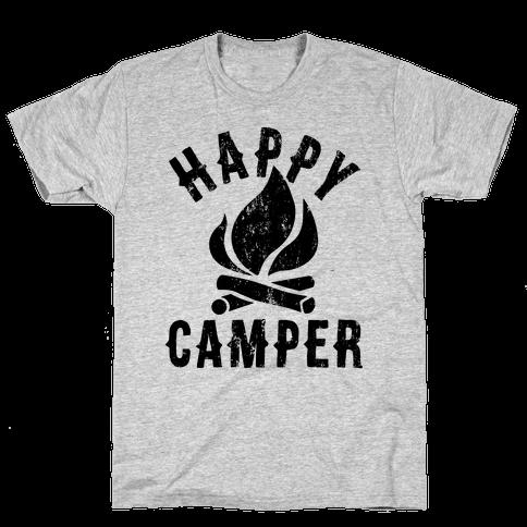 Happy Camper Mens T-Shirt