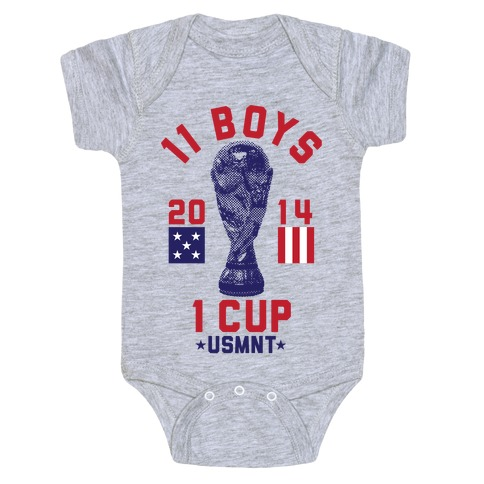 11 Boys 1 Cup Baby Onesy