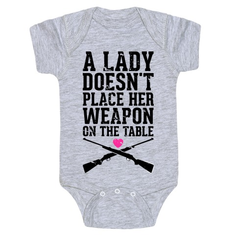 No Weapons at the Table Baby Onesy