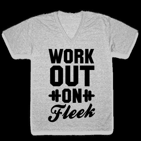 Workout on Fleek V-Neck Tee Shirt