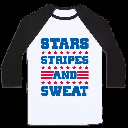 Stars Stripes and Sweat Baseball Tee