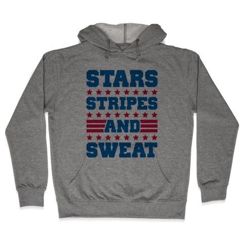 Stars Stripes and Sweat Hooded Sweatshirt