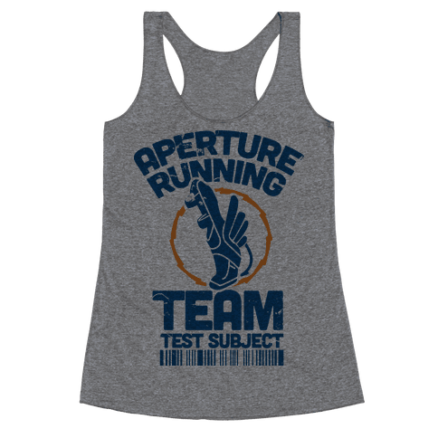 Aperture Running Team  Racerback Tank Top