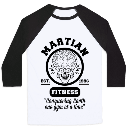 Martian Fitness Baseball Tee