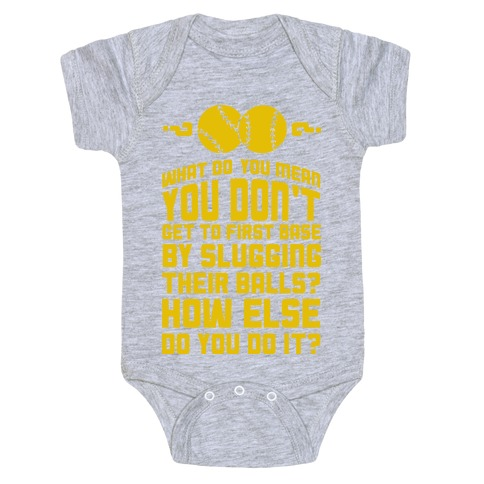 First Base Baby Onesy