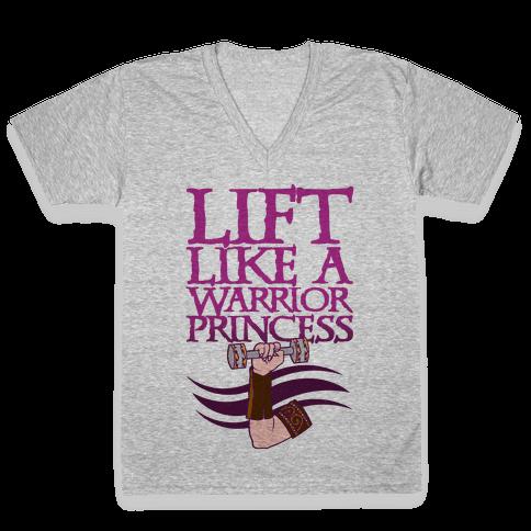 Lift Like A Warrior Princess V-Neck Tee Shirt