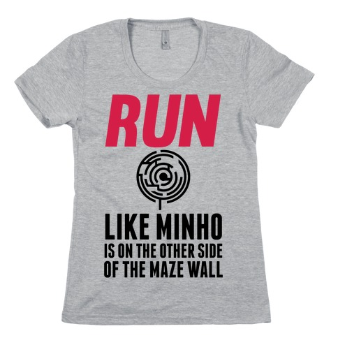 Run Like Minho Is On The Other Side Of The Maze Wall Womens T-Shirt