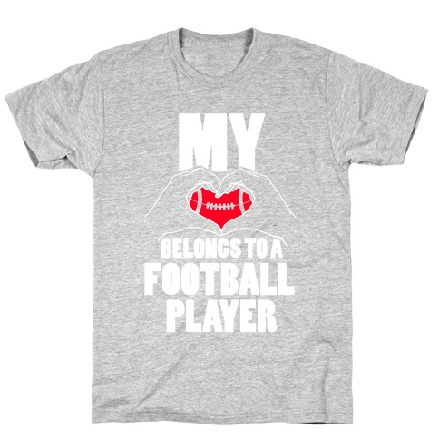 My Heart Belongs To A Football Player Mens T-Shirt