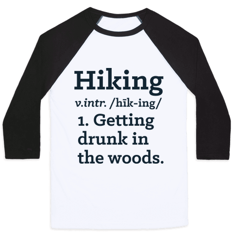 Hiking Definition Baseball Tee