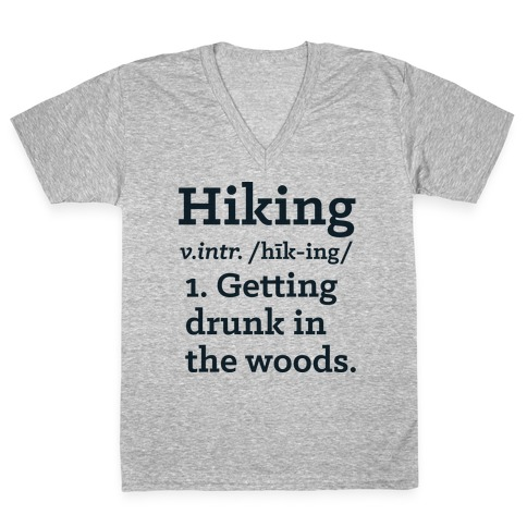 Hiking Definition V-Neck Tee Shirt