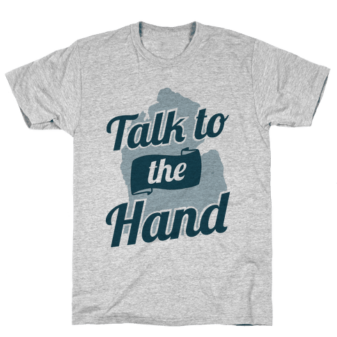 Talk to the Hand (Michigan) Mens T-Shirt