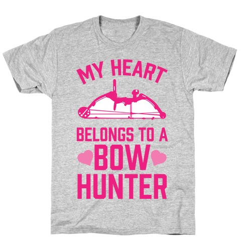 My Heart Belongs To A Bow Hunter T-Shirt