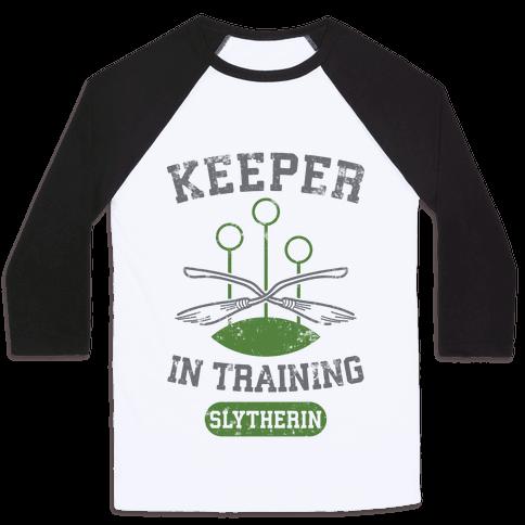 Keeper In Training (Slytherin) Baseball Tee
