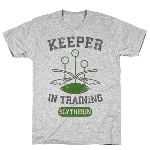 Keeper In Training (Slytherin) Mens T-Shirt