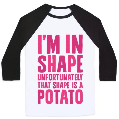 In Shape Potato Baseball Tee