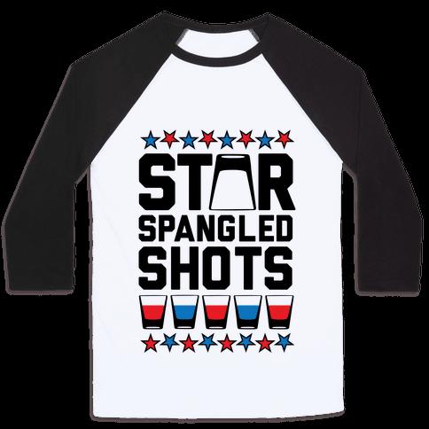 Star Spangled Shots Baseball Tee