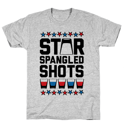 Star Spangled Shots Mens T-Shirt