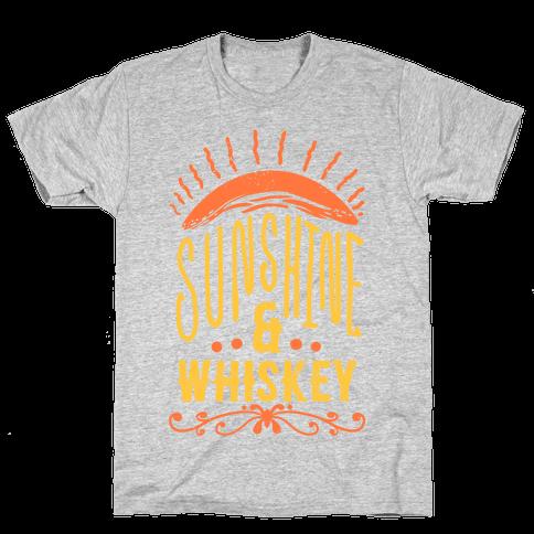 Sunshine and Whiskey Mens T-Shirt
