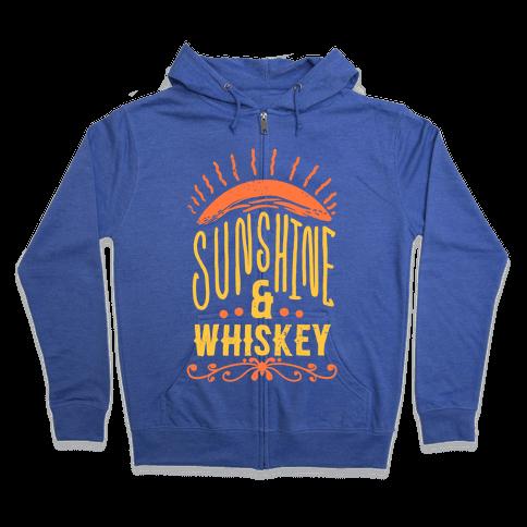 Sunshine and Whiskey Zip Hoodie