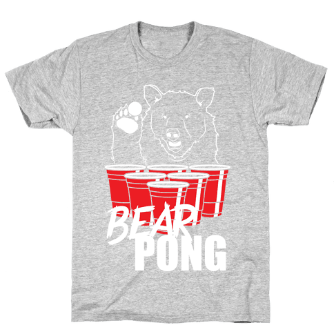 Bear Pong Mens T-Shirt