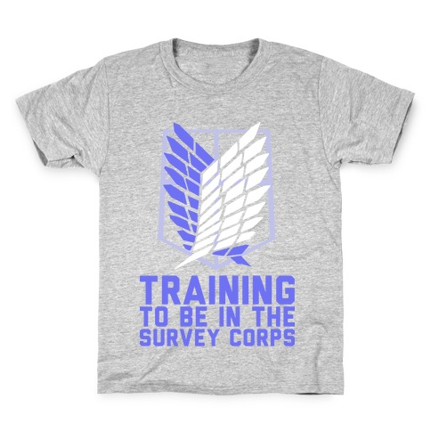 Training To Be In The Survey Corps Kids T-Shirt