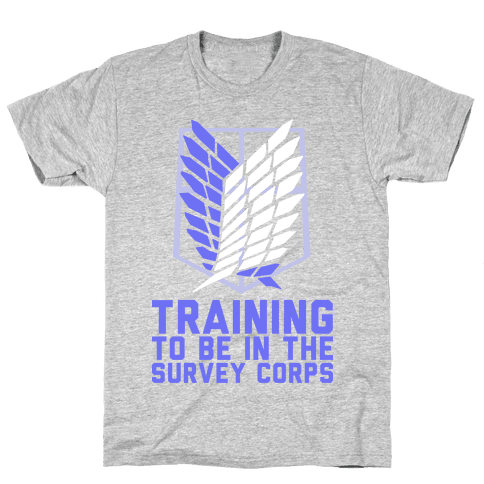 Training To Be In The Survey Corps Mens T-Shirt