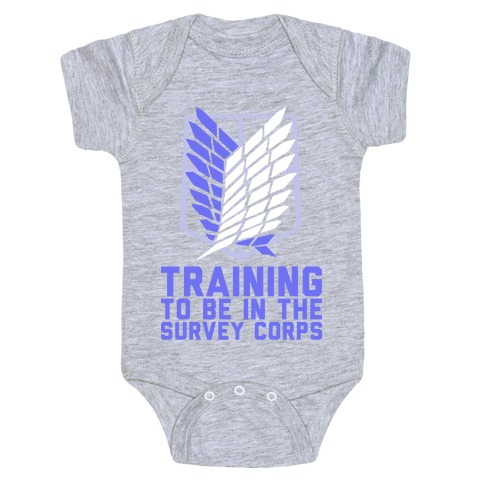 Training To Be In The Survey Corps Baby Onesy