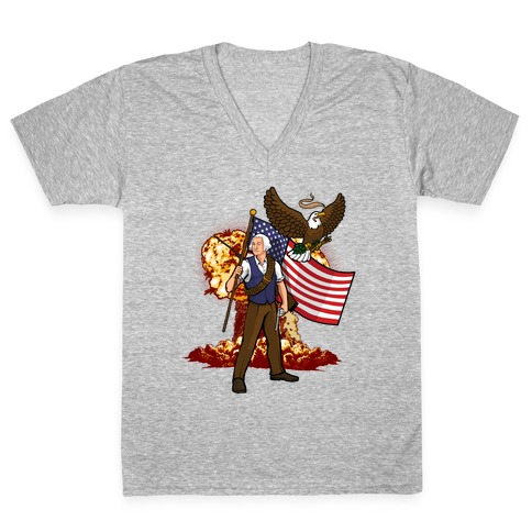 The Immortal George Washington V-Neck Tee Shirt