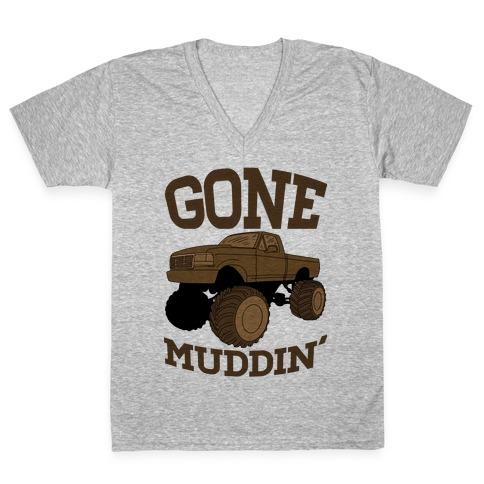 Gone Muddin V-Neck Tee Shirt