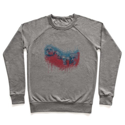 Watercolor Rushmore (Patriotic Baseball Tee) Pullover