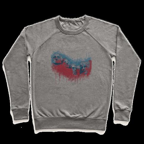 Watercolor Rushmore (Patriotic Baseball Tee) Pullover