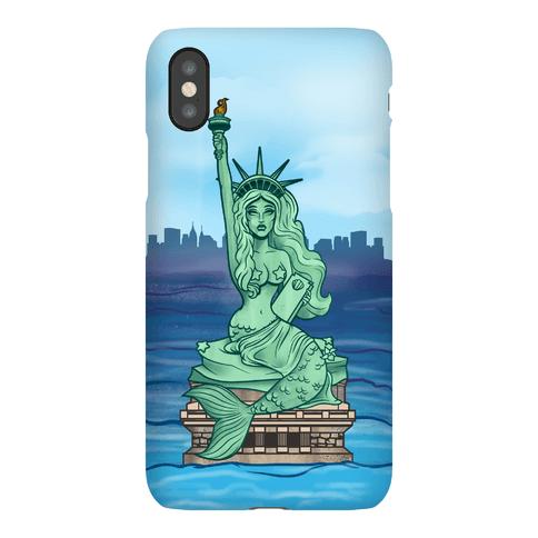 Statue Of Liberty Mermaid Phone Case