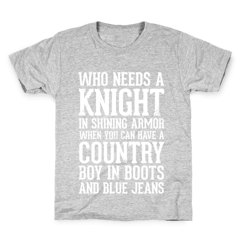 Country Boys in Boots and Blue Jeans Kids T-Shirt