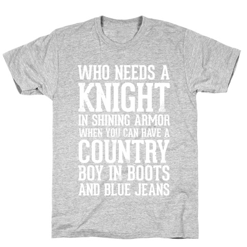 Country Boys in Boots and Blue Jeans T-Shirt