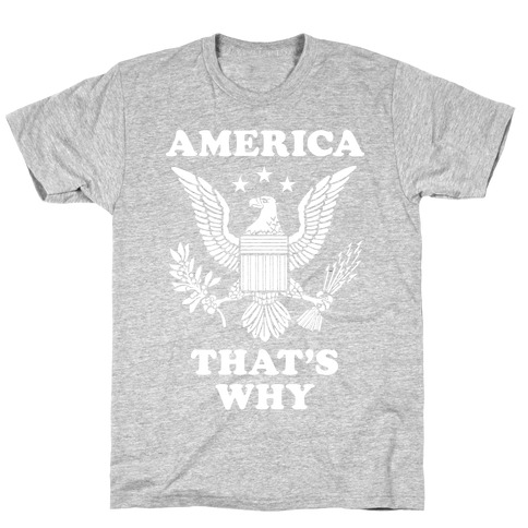 America That's Why (Patriotic Tank) T-Shirt