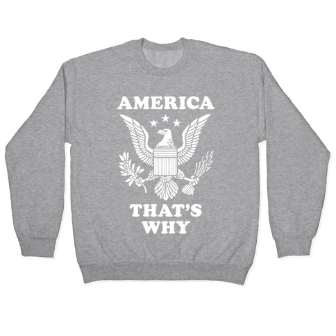 America That's Why (Patriotic Tank) Pullover