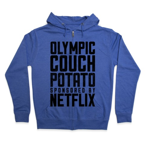 Olympic Couch Potato Zip Hoodie