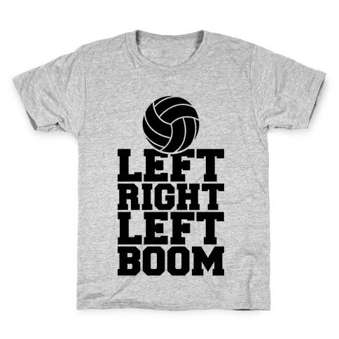 Left, Right, Left, Boom Kids T-Shirt