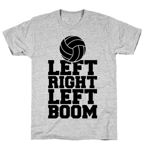 Left, Right, Left, Boom Mens T-Shirt