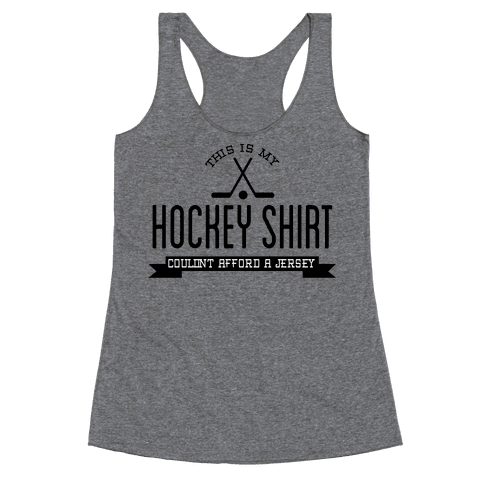 Hockey Shirt Racerback Tank Top