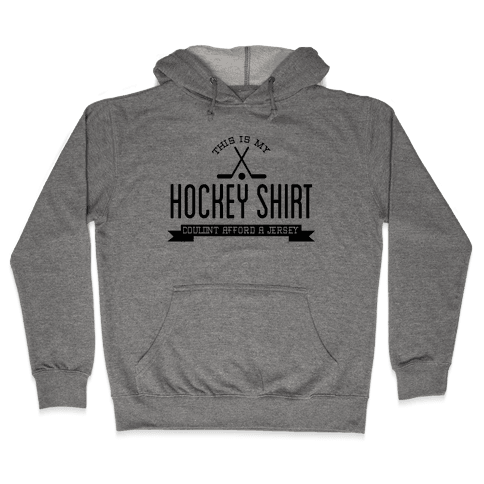 Hockey Shirt Hooded Sweatshirt