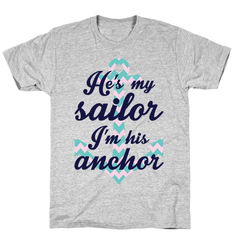 I'm His Anchor (Navy Raglan) T-Shirt