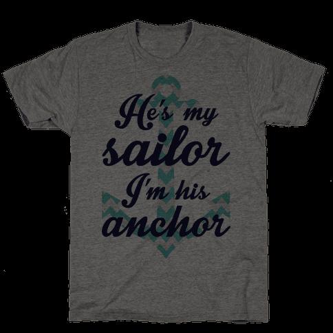 I'm His Anchor (Navy Raglan)
