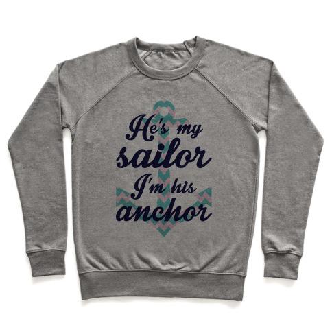 I'm His Anchor (Navy Raglan) Pullover