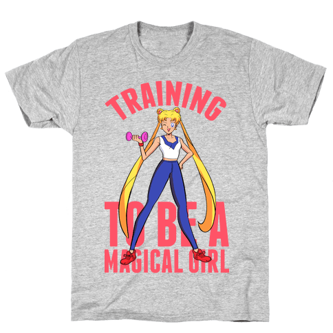 Training To Be A Magical Girl Mens T-Shirt