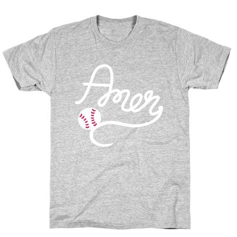 Baseball, Amen T-Shirt